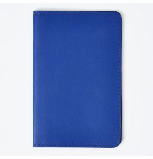 Protège passeport en cuir recyclé bleu