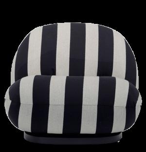 Fauteuil pivotant noir et blanc Pacha - Modèle d'exposition