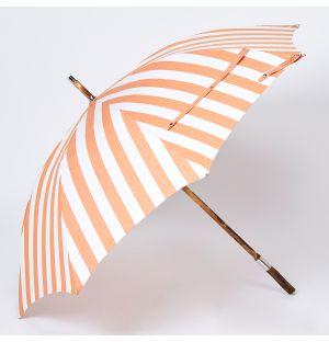 Parapluie orange en bois de châtaignier