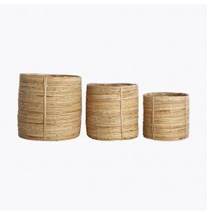Ensemble de 3 paniers en bambou Chaka