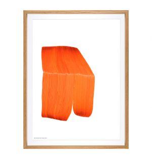 Affiche orange encadrée RB
