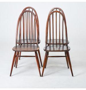 Ensemble de 4 chaises vintage Windsor
