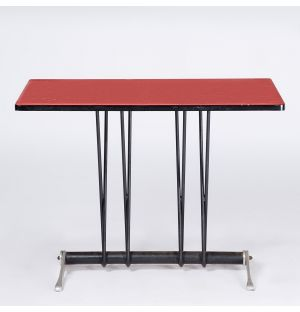 Table vintage rouge Bistro