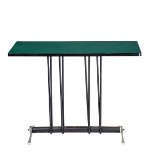 Table vintage verte Bistro