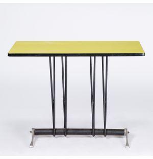 Table vintage jaune Bistro