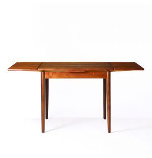 Table extensible vintage en bois de teck