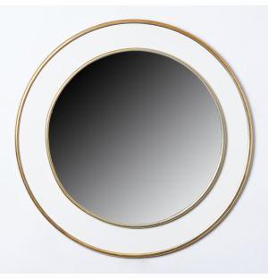 Grand miroir circulaire en laiton - 60 x 60 cm