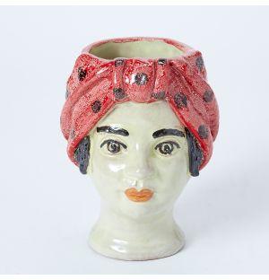 Vase rouge Visage de femme - Small