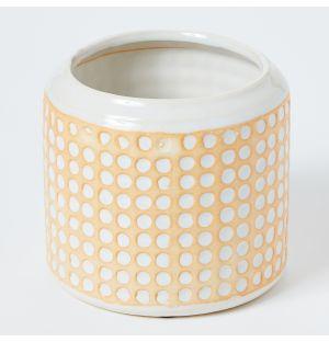 Pot en céramique jaune Conflict