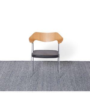 Tapis Kilim à mini losanges bleu - 350 x 350 cm