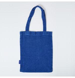 Mini cabas en lin bleu