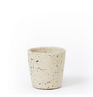 Cache-pot en céramique beige - Small