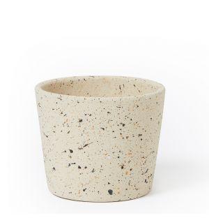 Cache-pot en céramique beige - Medium