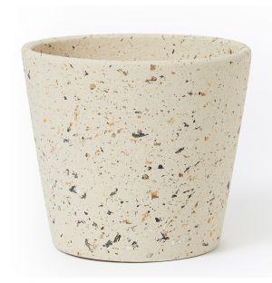 Cache-pot en céramique beige - Large