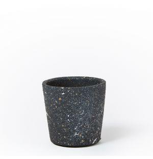 Cache-pot en céramique noire - Small