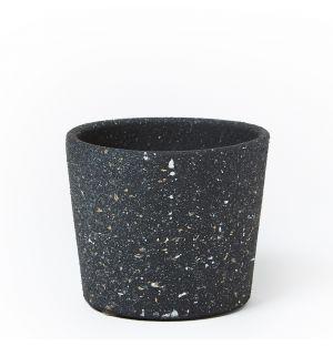 Cache-pot en céramique noire - Medium