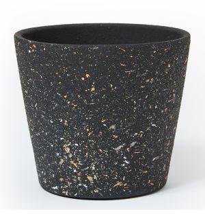 Cache-pot en céramique noire - Large