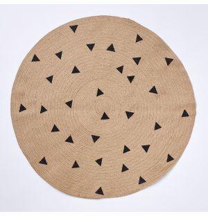 Tapis en jute Triangle