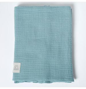 Couverture en mousseline de coton menthe