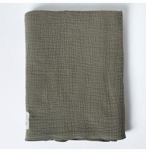 Couverture en mousseline de coton gris