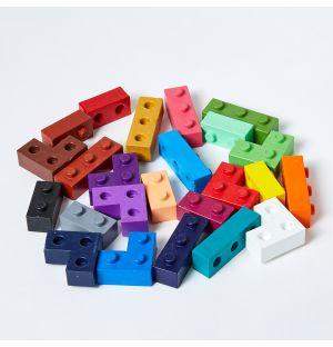 24 crayons Bloc multicolores