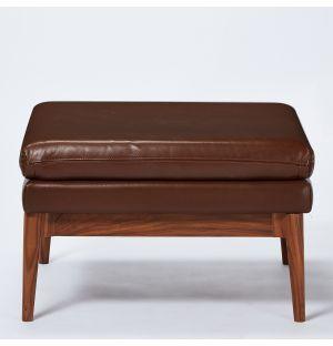 Ottoman Elgin en cuir Romagna châtaigne - Modèle d'exposition