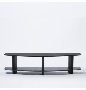 Etagère Wing en frêne massif noir 150 cm - Modèle d'exposition