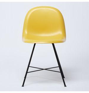 Chaise HiRek jaune & piétement noir - Modèle d'exposition