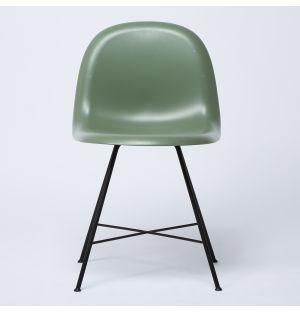 Chaise HiRek verte & piétement noir - Modèle d'exposition