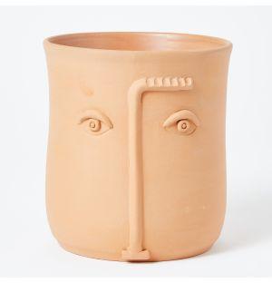 Vase terracotta Face – 18 cm