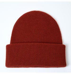 Bonnet en cachemire rouge