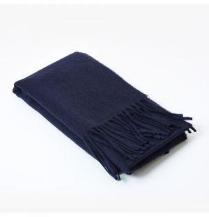 Écharpe en cachemire bleu marine