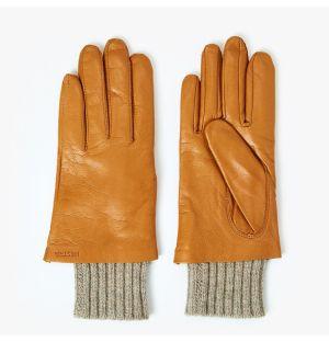 Gants pour femme en cuir marron
