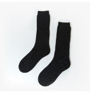 Chaussettes en cachemire noir – Taille unique