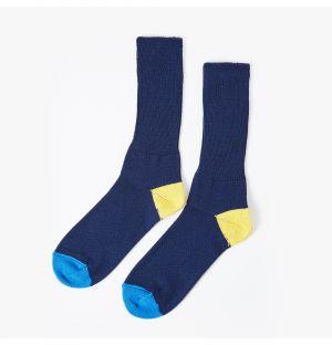 Chaussettes en coton bleu marine, jaune et bleues - Édition limitée