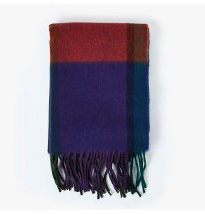 Écharpe Nowell en laine d'agneau et angora - violet