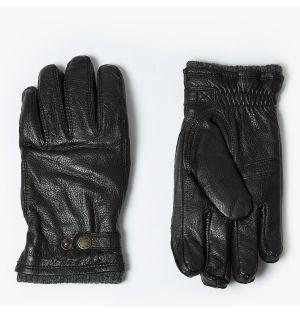 Gants pour homme Utsjö en cuir noir