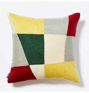 Housse de coussin Haus jaune et rouge - 45 x 45 cm