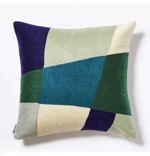 Housse de coussin Haus verte et bleue - 45 x 45 cm