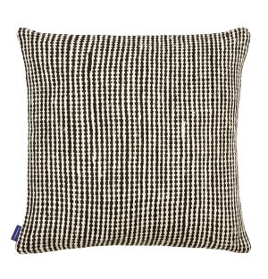 Housse de coussin en coton tressé noir - 50 x 50 cm