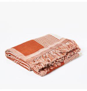 Plaid Imari en laine et en soie