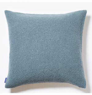 Housse de coussin en coton flammé bleu ciel - 50 x 50 cm
