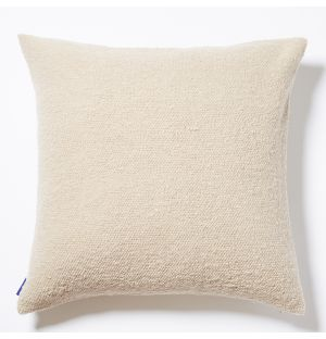 Housse de coussin en coton flammé beige - 50 x 50 cm