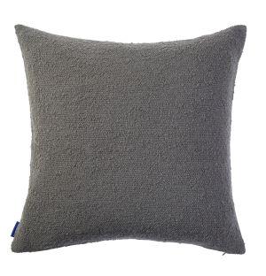 Housse de coussin en coton flammé gris - 50 x 50 cm