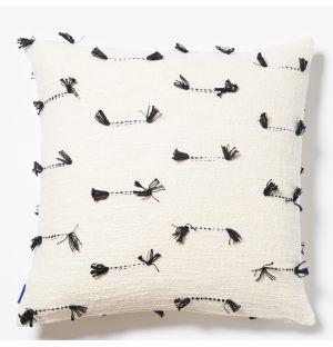 Housse de coussin à coutures noires - 50 x 50 cm