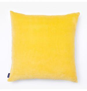 Housse de coussin en velours jaune - 50 x 50 cm