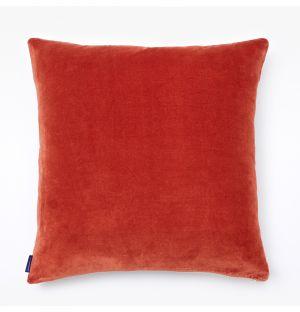 Housse de coussin en velours rouge - 50 x 50 cm