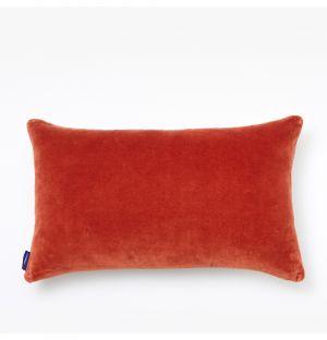 Housse de coussin en velours rouge - 30 x 50 cm