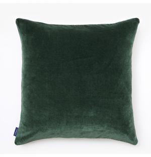 Housse de coussin en velours vert - 50 x 50 cm