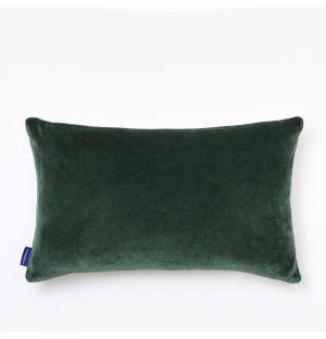 Housse de coussin en velours vert - 30 x 50 cm